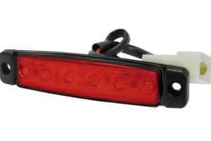 35944000 SEGNALATORE LATERALE UNIVERSAL APPLICATIONS / MARKER-6 LED 24V ROSSO-0
