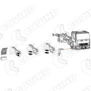 120/326 RIPAROFANGO ANTERIORE DX EUROCARGO 120/150 COD.ORIGINALE 500318338-0