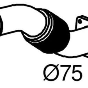 28211 TUBO FLESSIBILE SCARICO EUROCARGO E23 120-130/150 COD.ORIG.500307078-0