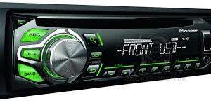 DEH-1600UBG STEREO AUTO PIONEER SINTO CD USB AUX IILUMINAZIONE VERDE-0