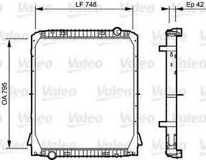 733487 RADIATORE MOTORE IVECO EUROTECH TRAKKER CURSOR (VALEO)-0