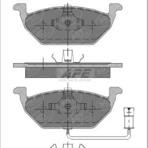 SP136PR SERIE PASTIGLIE FRENO ANTERIORI AUDI SEAT SKODA-0