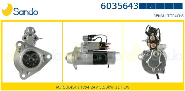 CST35643GS MOTORINO AVVIAMENTO RENAULT TRUK -0