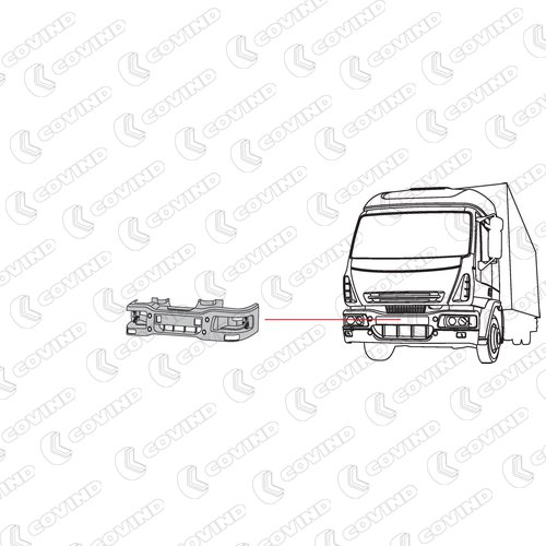 075/ 95 PARAURTI IVECO - TECTOR RESTYLING 75-0