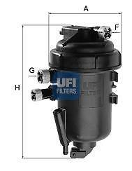 5517300 FILTRO COMPLETO GASOLIO PANDA 1.3 MJT UFI-0