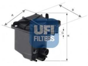 2402700 FILTRO GASOLIO 1.6 HDI UFI-0