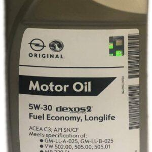 Opel 5w30 Genuine Motor Olio Motore Dexos 2 Longlife formato 1 litro