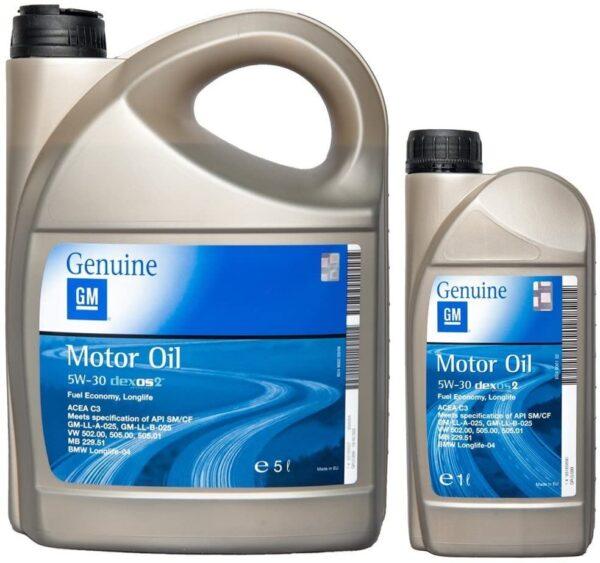 Opel 5w30 Genuine Motor Olio Motore Dexos 2 Longlife formato 5 litri + 1 litro